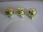 3 большие елочные игрушки шарики-мячики