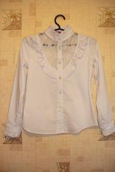 Продам новую школьную белую блузку